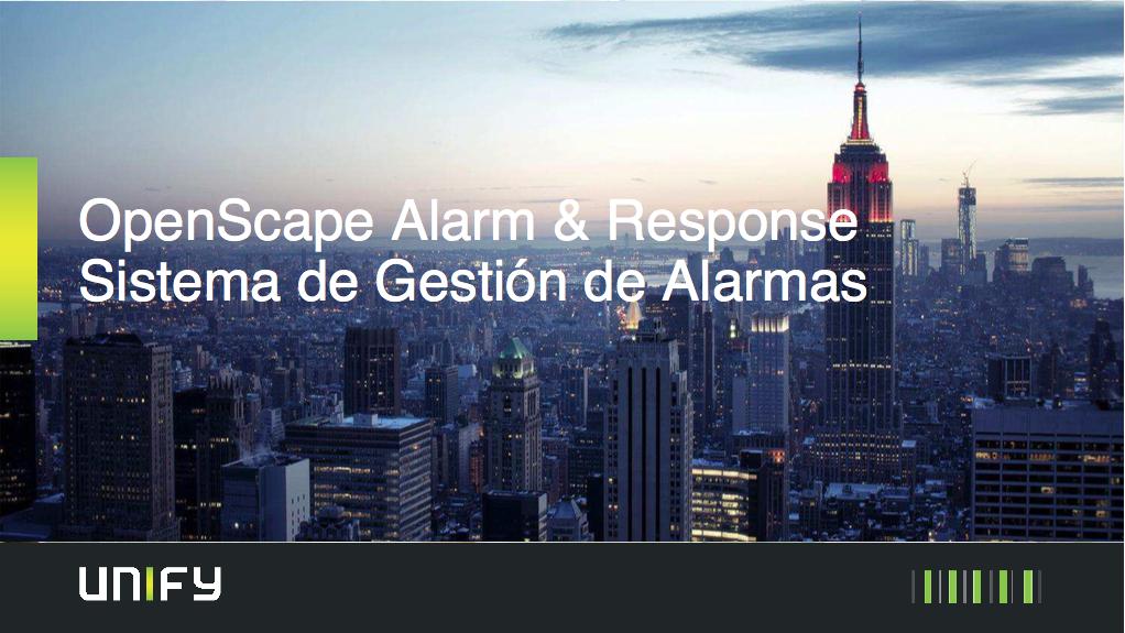Sistema de gestión automatizada de alarma Open Scape